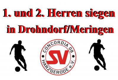 Foto zu Meldung: Doppelsieg gegen Drohndorf/Meringen