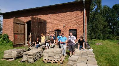 Foto zur Meldung: Scheunenprojekt auf dem Pfarrgelände in Sülstorf