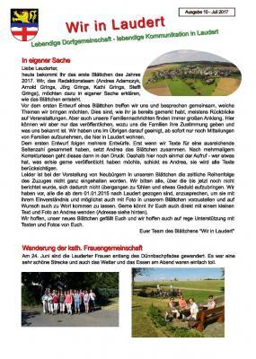Vorschaubild zur Meldung: Infoblatt Wir in Laudert - Ausgabe 10