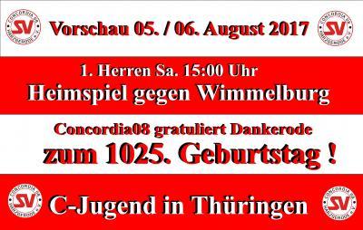 Foto zur Meldung: Vorschau Wochenende 5./6. August