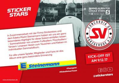 Foto zur Meldung: National- und Bundesligaspieler waren gestern! Jetzt kommt das  SV Concordia08 Sticker- Sammelalbum zur Jubiläumssaison!
