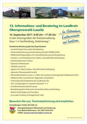 Foto zur Meldung: 12. Informations- und Beratertag im Landkreis Oberspreewald-Lausitz