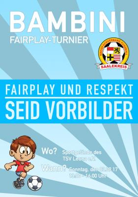 Foto zur Meldung: Mitteilung Jugendausschuss: Erstes Bambini Fair Play Turnier 2017/2018