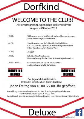 Veranstaltungen des Jugendclubs