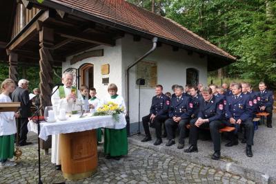 Gottesdienst bei der Fatimakapelle Anzenberg