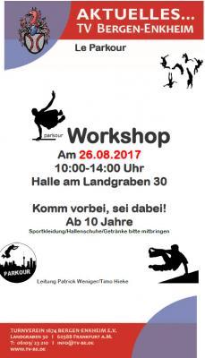 Vorschaubild zur Meldung: Workshop zur Sportart Parcour am 26.08.2018