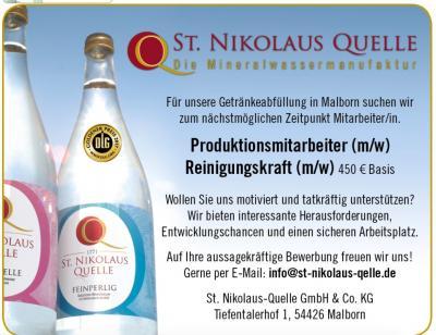 Vorschaubild zur Meldung: Stellenanzeige St.Niklaus Quelle