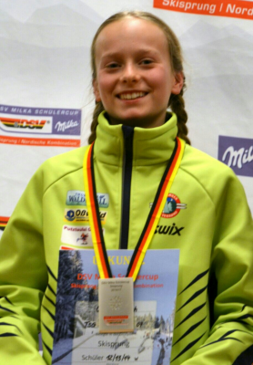 Foto zur Meldung: Cindy Haasch beim FIS Youth Cup