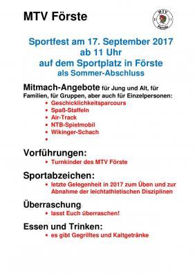 Vorschaubild zur Meldung: MTV Sporttag am 17.09.2017 in Förste