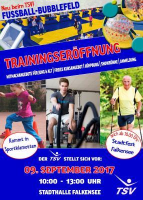 Traditionell lädt der Falkenseer Turn- und Sportverein (TSV Falkensee e.V.) seine Mitglieder und Sportbegeisterte bzw. –interessierte nach den Sommerferien zur Trainingseröffnung ein.