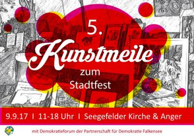 Am Samstag, 9.September findet die 5. Kunstmeile zum Stadtfest in Falkensee statt.