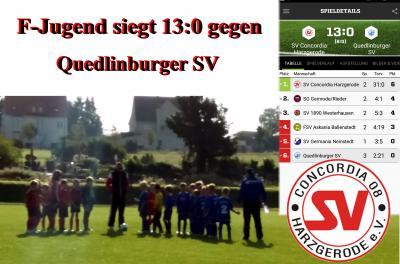 Foto zu Meldung: F-Jugend siegt 13:0 gegen Quedlinburg
