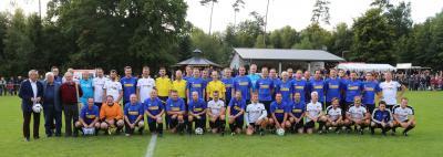 Die Teams mit Staatssekretär Kern, FVR-Präsident Desch u. Koordinator Ganser (Foto: Gerd Silbernagel)