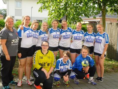 Foto zur Meldung: Neue B-Jugend bei der Rangsdorfer Handballwoche zusammengewachsen