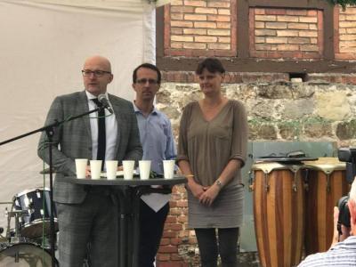 """Foto zu Meldung: AUSGEZEICHNET: Historischer Bahnhof Hangelsberg """"Demografie-Beispiel"""" des Monats"""