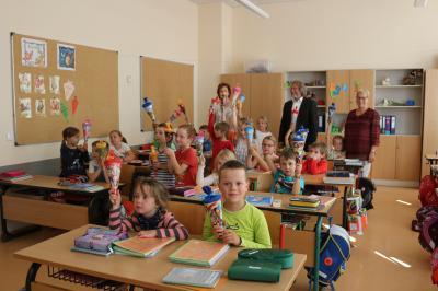 Foto zur Meldung: 1. Schultag in der Grund- und Oberschule Calau