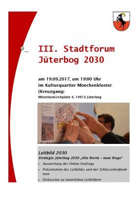 Plakat III. Stadtforum