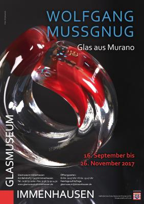 Vorschaubild zur Meldung: Glasmuseum: Sonderausstellung: Wolfgang Mussgnug - Glas aus Murano