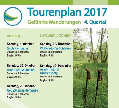 Tourenplan 4. Quartal