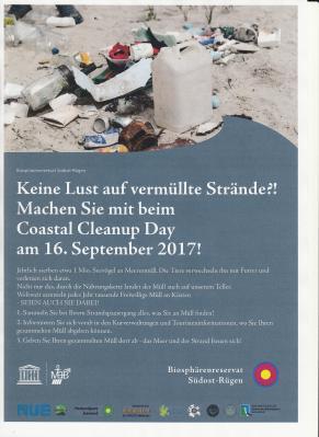 Vorschaubild zur Meldung: 16. September - Internationaler Küstenputztag