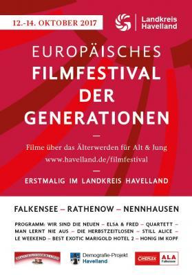Vorschaubild zur Meldung: Europäisches Filmfestival der Generationen im Havelland vom 12. bis 14. Oktober 2017