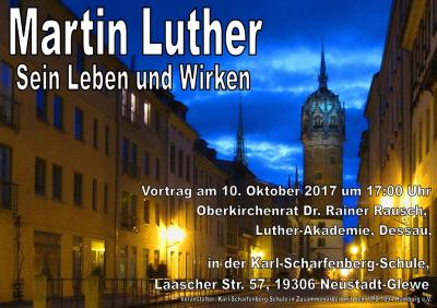 """Vorschaubild zur Meldung: """"Luther"""" in der Karl-Scharfenberg-Schule"""