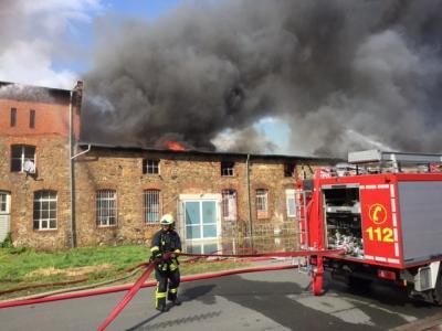 Vorschaubild zur Meldung: Großbrand in Ermsleben