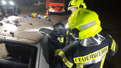 Vorschaubild zur Meldung: Übung Rettungseinsatz bei Unfall mit PKW