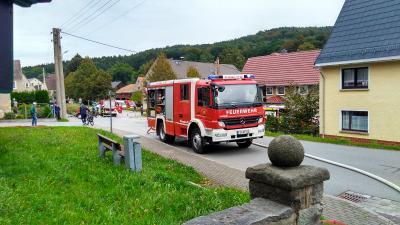 Vorschaubild zur Meldung: Großübung der Feuerwehren in Porschendorf