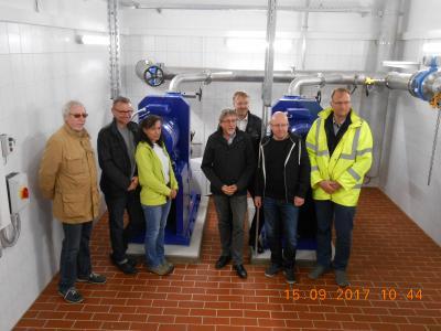Foto zur Meldung: Regenüberlaufbecken mit Pumpwerk in Merkers feierlich übergeben