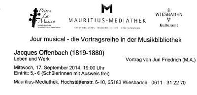Vorschaubild zur Meldung: Jurí Friedrich: Jacques Offenbach - Leben und Werk