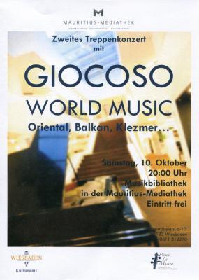 Vorschaubild zur Meldung: Ensemble Giocoso: World Music - Oriental, Balkan, Klezmer