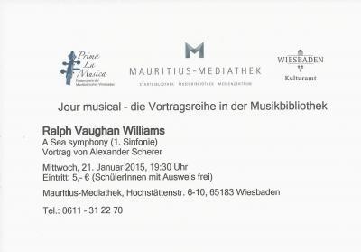 """Vorschaubild zur Meldung: Alexander Scherer: Ralph Vaughan Williams """"A Sea Symphony"""""""