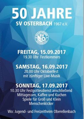 Vorschaubild zur Meldung: 50 Jahre SV Osterbach 1967 e.V.