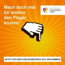 Vorschaubild zur Meldung: Alle sind eingeladen: Jetzt über Deutschen Engagementpreis abstimmen!