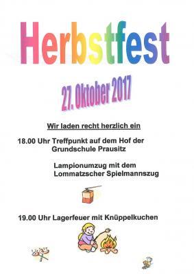 Vorschaubild zur Meldung: Herbstfest der Grundschule Prausitz