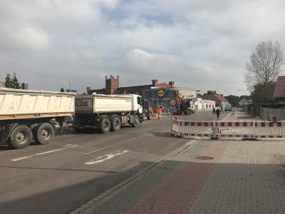 Foto zu Meldung: Die Vollsperrung zum grundhaften Ausbau der B 1 in der Ortslage Genthin kann aufgehoben werden