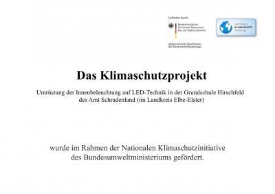 Foto zur Meldung: Klimaschutzprojekt Hirschfeld wird im Rahmen der Nationalen Klimaschutzinitiative des Bundesumweltministerium gefördert