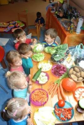 Foto zur Meldung: Gemüsetag bei den Kwirlies in der Gesundheitswoche