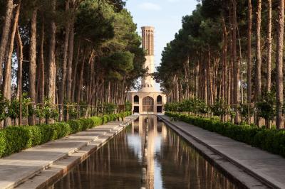 Der Gartenpalast des Bagh-e Dolat Abad in Yazd gehört zum UNESCO-Weltkulturerbe. Bei seinen Reisen besichtigte ihn auch Hans-Joachim Eggert.