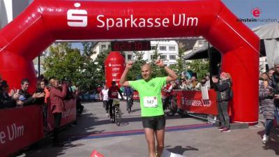 Foto zur Meldung: Tobias Babel vom MTV Freiheit siegt beim Ulmer Einstein Marathon