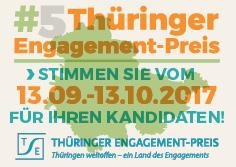 Vorschaubild zur Meldung: Online- Voting zum 5. Thüringer Engagement- Preis