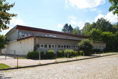 Die Turnhalle der Oberschule Falkensee im Poetenweg ist geschlossen