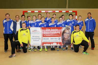 Foto zu Meldung: Handball: Neue Trikots für die mA und mB Jugend von ACTA NON VERBA IMMOBILIEN