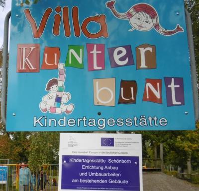 Foto zur Meldung: Kita Schönborn – Errichtung Anbau und Umbauarbeiten am bestehenden Gebäude