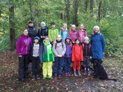 Foto zur Meldung: Unser Vormittag im Glücksburger Wald