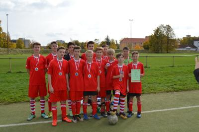Foto zur Meldung: Kreisfinale Jugend trainiert WK III in Senftenberg