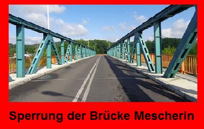 Vorschaubild zur Meldung: Mescheriner Brücke wieder offen!