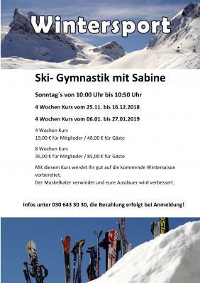 Foto zur Meldung: Ski Gymnastik mit Sabine
