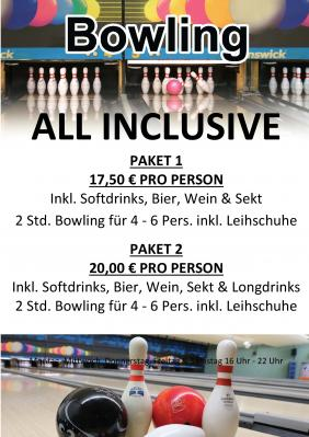 Vorschaubild zur Meldung: Bowling inkl. Getränke und Leihschuhe Angebot